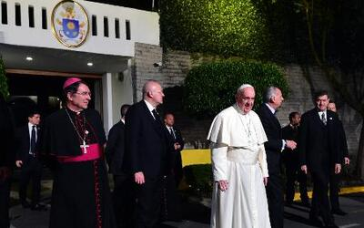 Arribó el Papa Francisco a la Ciudad de México