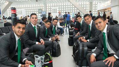 El 'Tri' quedó atrapado en un elevador en Lima 20150531_8566.jpg