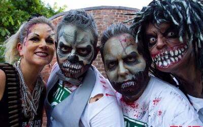 Algunos de los disfrazados que participaron de la actividad el pasado 23...