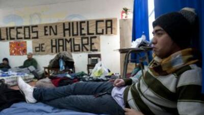 Ahora los que hacen una huelga son los estudiantes chilenos de secundaria.