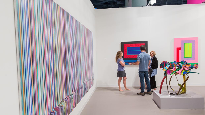 Obra de Ian Davenport en Art Basel 2015