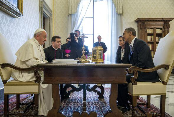 Obama en el Vaticano. (Cortesía:National Archives, Ronald Reagan Presid...