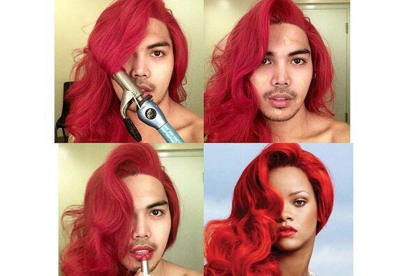 ¿Qué tal Rihanna de pelirroja?