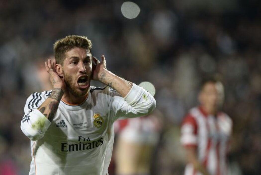 Pero a minutos del final, llegó el rostro de la emoción de Ramos al empa...