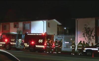 Bomberos rescataron a dos mujeres que estaban dentro de un apartamento e...