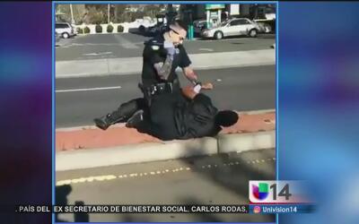 Captan a policía de Vallejo sometiendo a un hombre de forma violenta