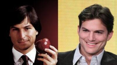Steve Jobs y Ashton Kutcher, el parecido es asombroso.
