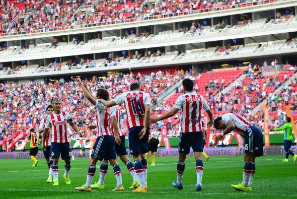 Desde el apertura 2011 Chivas no sabía lo que era gozar en el top...