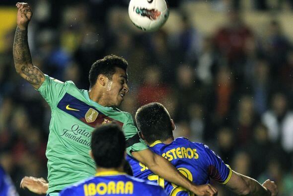 Barcelona estaba echado al frente, corriendo el riesgo de que le hiciera...