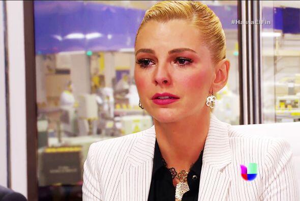 Está tristísima, no sabe qué hacer con su relación con Patricio.