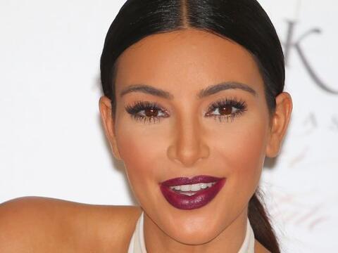 Kim está muy orgullosa de su figura.