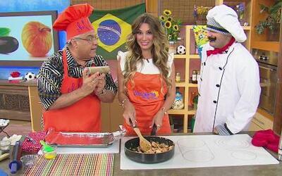 Receta de Pastel de Pollo con el chef Pepin y Elizabeth Gutiérrez