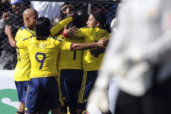 Colombia festejó su único gol del partido y con el cual derrotó a Costa...