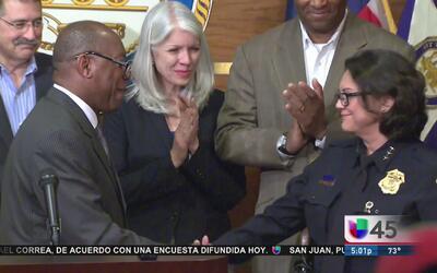 Inmigrante latina nueva jefe del Departamento de Policía de Houston