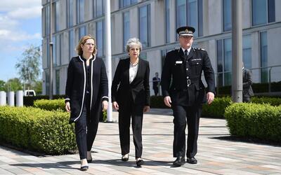 La ministra del Interior británica, Amber Rudd, la primera minist...
