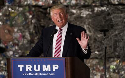 Trump habló desde una planta de aluminio