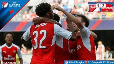 Arsenal derrota a las Estrellas de la MLS por 2-1