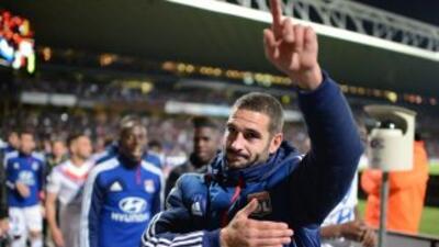 Lisandro se ganó un lugar en el corazón de los fans del Lyon.