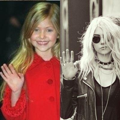 ¿Y cómo es que Taylor pasó de esta niña encantadora a esta rockera ruda...