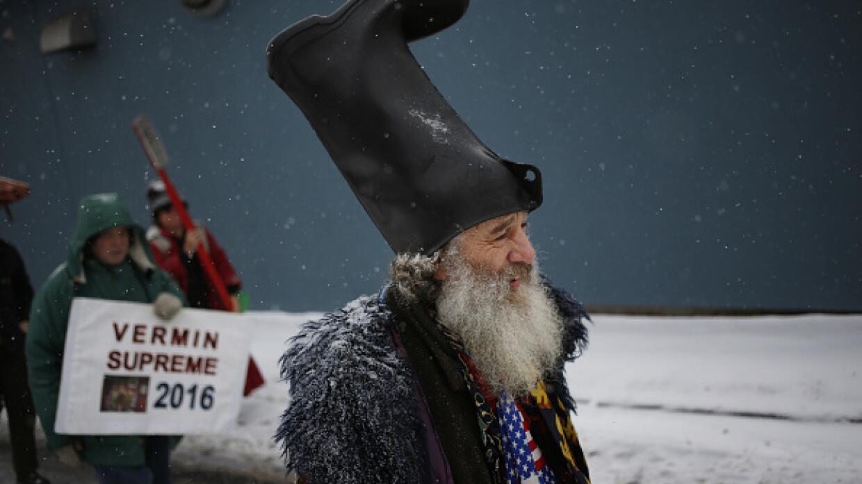 Vermin Supreme, candidato presidencial en New Hampshire