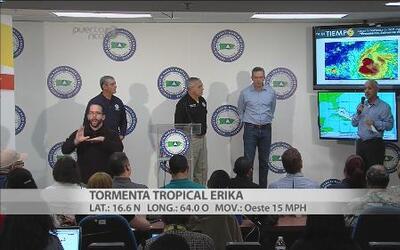 Efectos de Erika se sentirán hasta la tarde del viernes