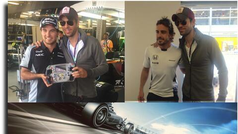 Enrique Iglesias en F1