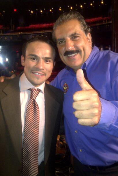 El gran boxeador Juan Manuel Márquez estuvo presente.