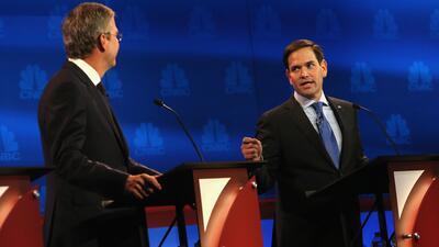 Careo entre Jeb Bush y Marco Rubio en el debate de Colorado