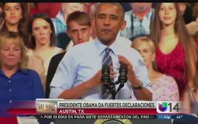 Presidente Obama da fuertes declaraciones