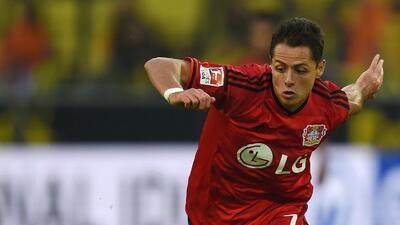 Javier Hernández anota con el Leverkusen