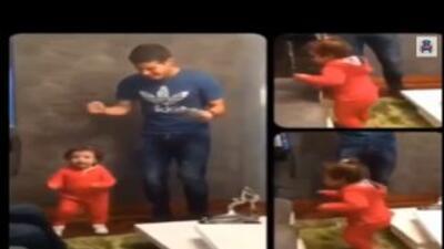 James Rodriguez baila con su hija.