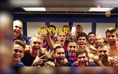Así celebró el Barcelona, en las mismísimas entrañas del Bernabéu, su tr...