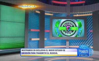 (YT version) El espectacular estudio de Univision Deportes en Brasil