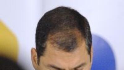 El presidente Rafael Correa fue contundente con la prensa de su país.