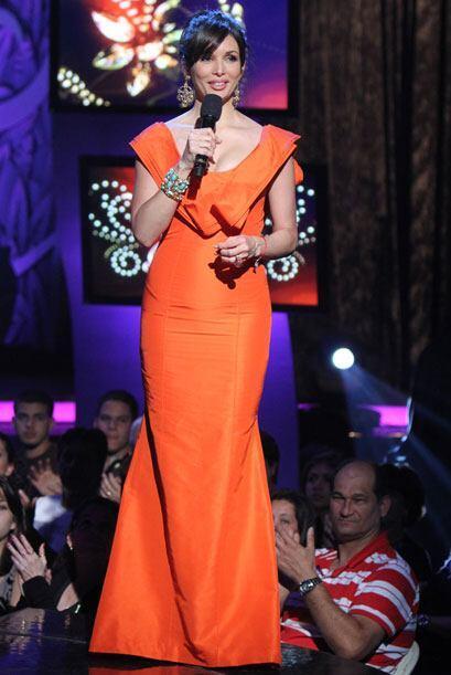 Al final de la tercera gala, Giselle lució un vestido largo y nar...