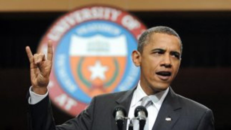 El presidente Barack Obama habló sobre la economía y la educación en la...