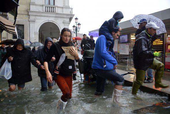 Es la sexta marea de esta dimensión en la historia de Venecia desde 1872...