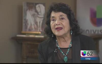 Dolores Huerta habla de la crisis fronteriza