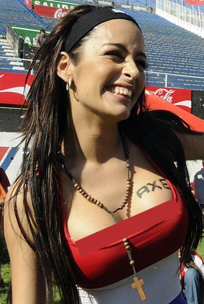 """La paraguaya se convirtió en """"La Novia del Mundial"""" en..."""