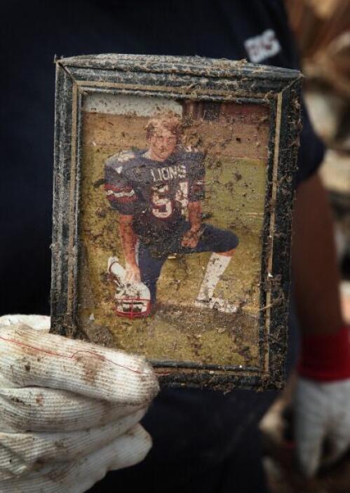 La foto de Cook fue uno de sus recuerdos más preciados que sobrevivió al...