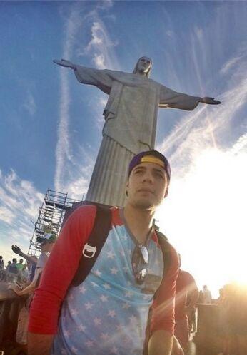 """""""#CristoRedentor"""", compartió William Valdes. (Julio 6, 2014)"""