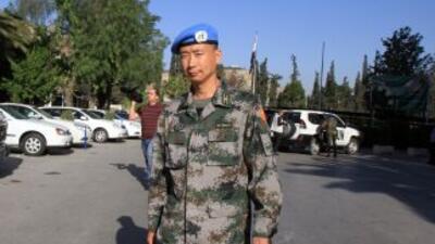 En la actualidad hay en Siria seis observadores militares no armados de...