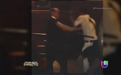 Captan en video enfrentamiento entre un ciudadano y un policía