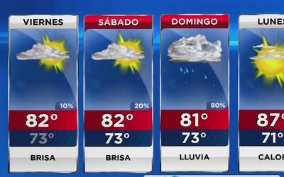 Cielo mayormente nublado y brisa para este viernes en Miami