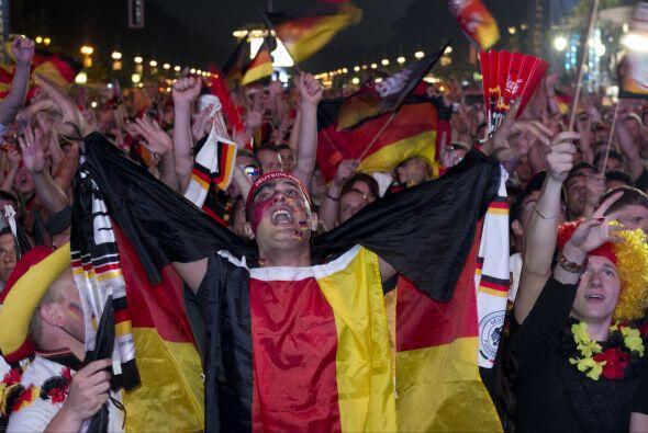 Y desde las calles alemanas así apoyaron a su selección.