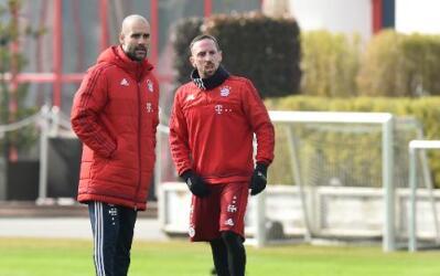 Frank Ribery/ Josep Guardiola