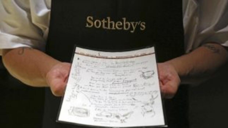 El manuscrito de cuatro páginas refleja una versión bastante cercana a l...