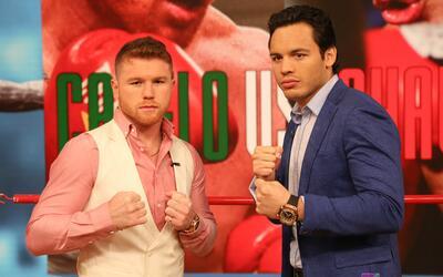 Saúl 'Canelo' Álvarez y Julio César Chávez J...