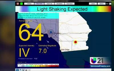 Alerta de sismo en sur de California