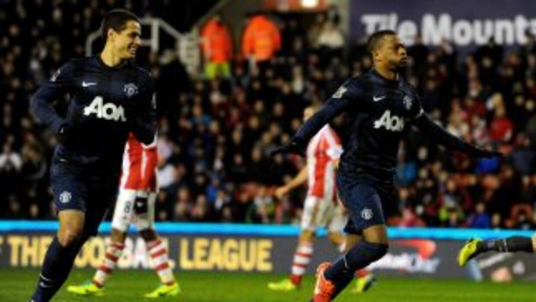 'Chicharito' fue parte de la jugada para el primer gol del United y aquí...